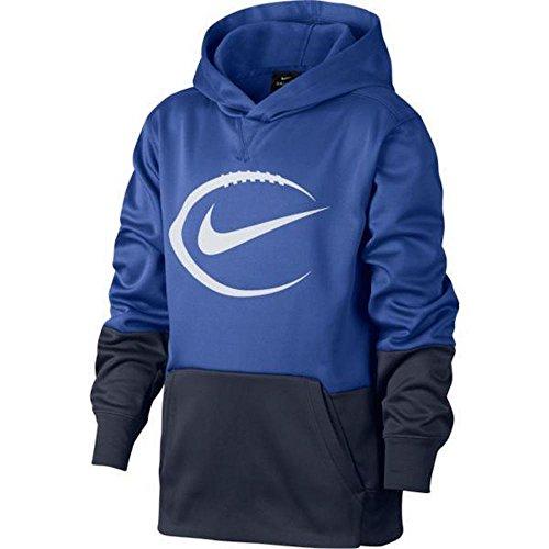Nike Therma Big Kids Boys KO Football Hoodie Blue Size Medium 884591-480 by NIKE