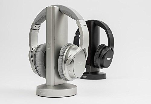 Amazoncom Sharper Image Tv Wireless Headphones Black Home Audio