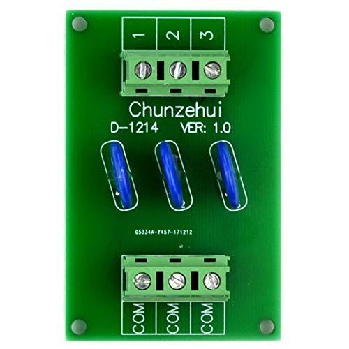 Chunzehui 3 Channels Common 30V SIOV Metal Oxide Varistor Interface Module, Surge Suppressor Protection SPD Board. - Metal Oxide Varistor Circuit