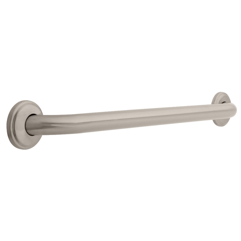 Franklin Brass 5924SN 1-1/4-Inch x 24-Inch Beveled Edge Concealed Mount Safety Bath and Shower Grab Bar, Satin Nickel by Franklin Brass