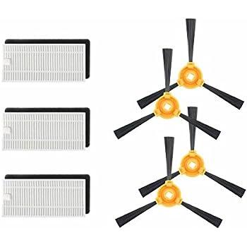 GIBTOOL 79 N79s Filter & Side Brush Accessory Kit for DEEBOT N79S & N79 Robotic Vacuum Cleaner - Filter, Brush