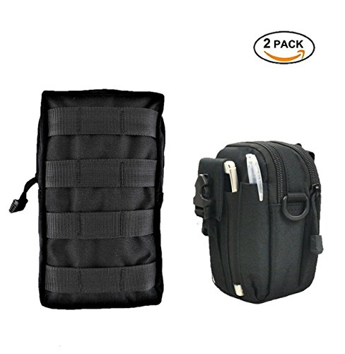 - Molle Life Tactical Molle Pouch Attachments SET - Waterproof Zipper Molle Pouches - Including Molle EDC/Mag Admin Pouch and Utility Molle Pouch