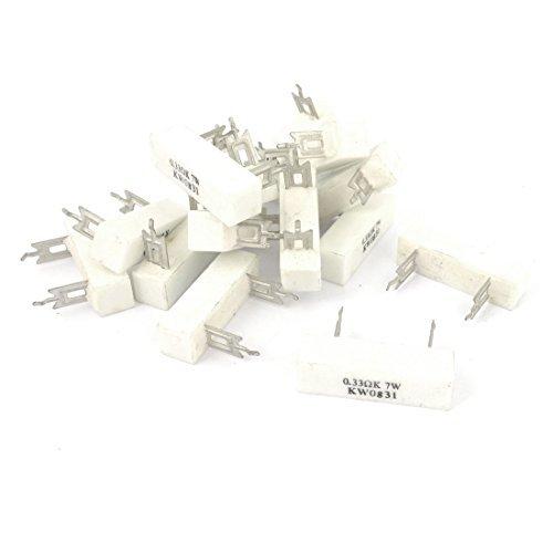 15 Pi/èces 0,33 Ohm 10/% Tol/érance 7 Watt Ciment C/éramique R/ésistance de puissance