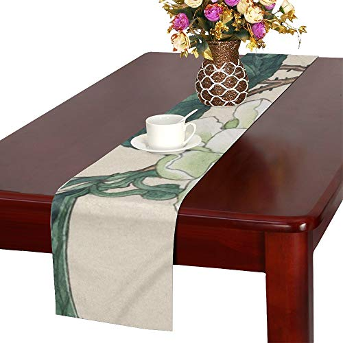 WBSNDB Vintage Watercolour Watercolor Painting Print Table Runner, Kitchen Dining Table Runner 16 X 72 Inch for Dinner Parties, Events, Decor