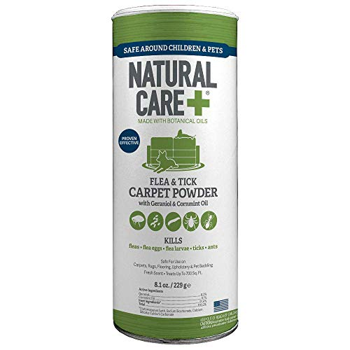 Natural Care Flea and Tick Carpet Powder, 9 oz (Dog Powder Jacket)