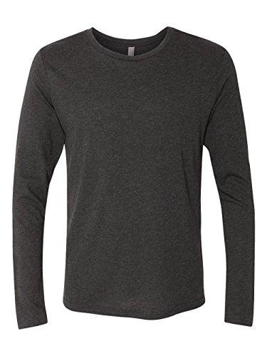 Next Level Men's Performance Blended Long Sleeve Jersey, Large, Vintage Black -