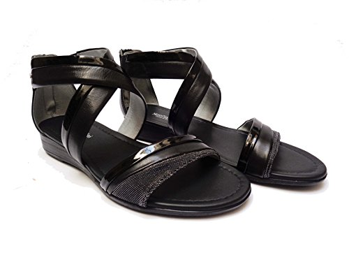de de vestir Sandalias Nero mujer Piel negro negro 36 Giardini para nZE6ZxIW