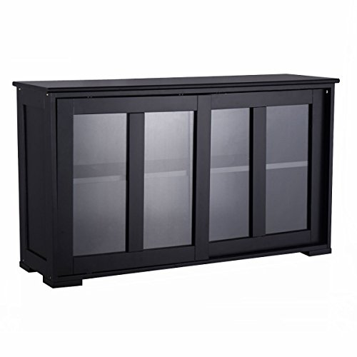 Top Buffet Sideboard Server (Costzon Storage Sideboard Home Kitchen Cupboard Buffet Cabinet w/Sliding Door Window)