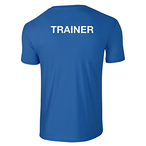Herren Trainer T-shirt, Personlich Trainer, Lehrer, Fitnesstrainer, Sportlehrer, Tiertrainer - Blau (M)