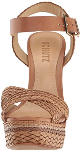 Schutz Women's Lorah Dress Sandal, Desert, 7.5 M US
