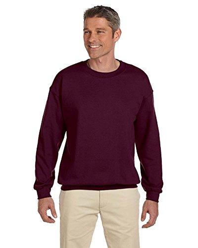 Jerzees Sweatshirt Print (New Jerzees Men's 1X1 Rib Cuffs Smooth Print Sweatshirt, Maroon, 3XL)