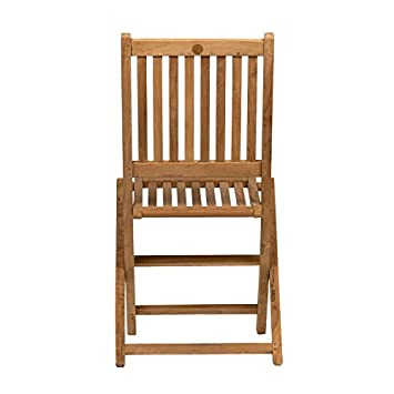 Amazonia Teak London 2-Piece Teak Folding Chair