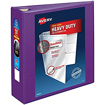 amazon com avery heavy duty view binder 3 one touch rings 670
