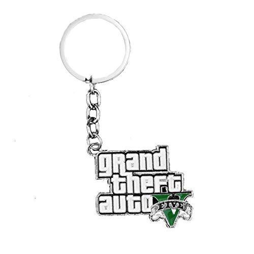 Juego Caliente Ps4 GTA 5 Grand Theft Auto Llavero Llavero ...