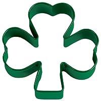 Cortador de galletas de trébol de metal verde Wilton de 3 pulgadas