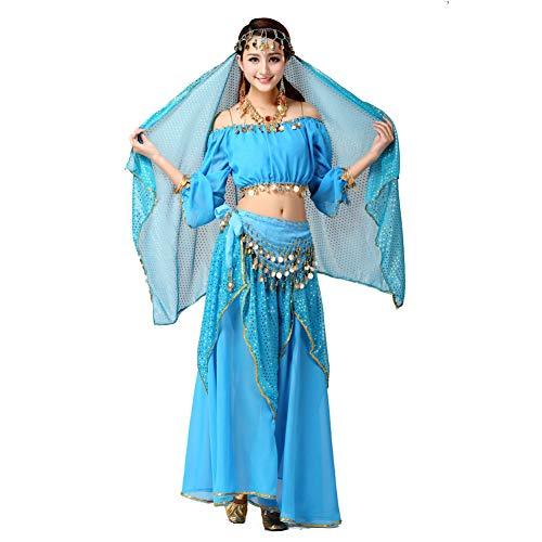 Pilot-Trade Women's Shinny Belly Dance Costume Dancewear Top