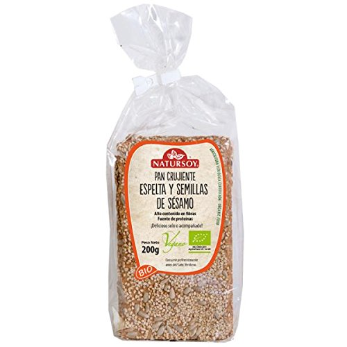 Pan Crujiente Espelta Y Semillas De Sésamo Bio Natursoy 200 G: Amazon.es: Alimentación y bebidas