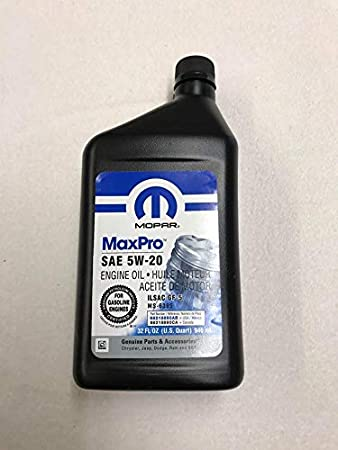 Mopar 5w20 Motorenöl 0 946l 68218890ab Ms 6395 Flu2 Auto
