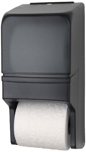 Palmer Fixture RD0025-01 Two-Roll Standard Tissue Dispenser, Dark Translucent