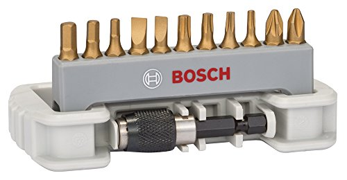 "Bosch 2608522128 Screwdriver Bit Set""Max Grip"" with Quick Ch"
