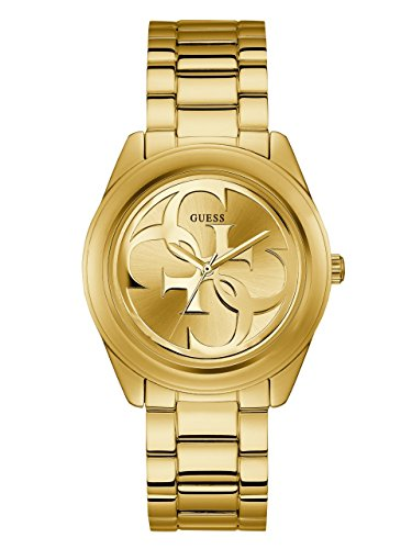 GUESS  Gold-Tone Stainless Steel Logo Bracelet Watch. Color: Gold-Tone (Model: ()