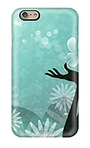 New Style Perfect Fit Beautiful Girl Turquoise Vectors Widescreen Case For Iphone - 6 1311752K55023193