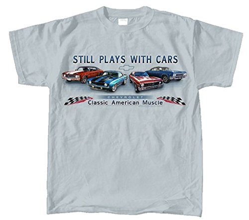 Joe Blow T's Chevy Chevelle, Camaro, Nova & Impala Muscle Car T-Shirt, XXX-Large, Grey -