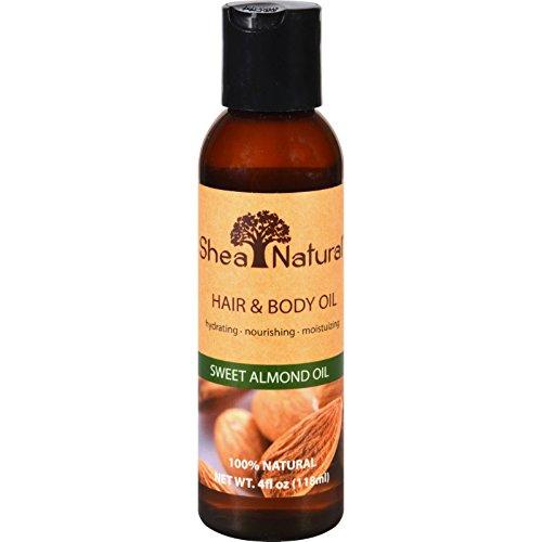 Shea Natural - Hair & Body Oil Sweet Almond Oil - 4 oz.