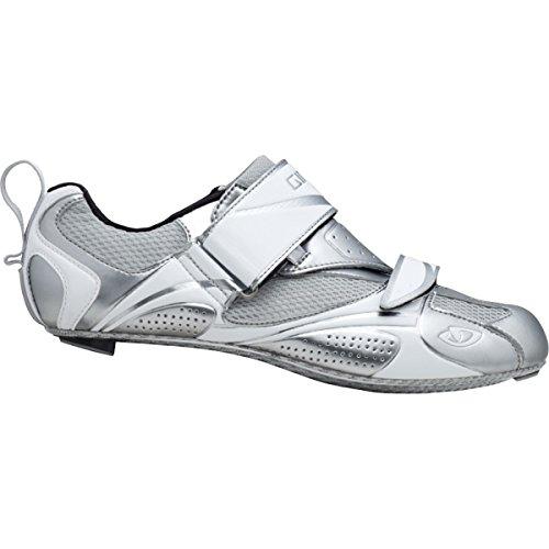 Giro Frauen Facet Tri Fahrradschuh Chrom / Weiß