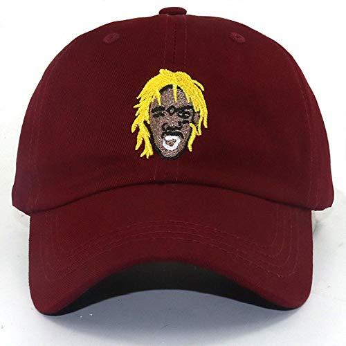 2019 New Rapper Singer Hip Hop Hat Unisex Singer Embroidery Cotton Adjustable Sn Apback Burgundy
