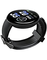 D18 Smart Watch Touch Screen, Color Screen, Reminder, Heart Rate Monitor, Blood Oxygen Monitor, Blood Pressure Monitor, Compatible with Android and iOS, Black color