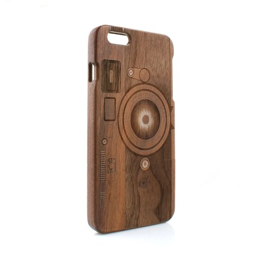 System-S Holzoptik Graphic Woodstyle Tasche Cover Schutzhülle Protector Case Etui für iPhone 6 Plus