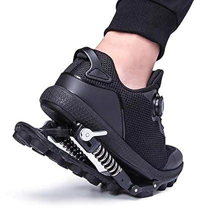 Chaussures Dathl/étisme avec des Ressorts en Acier et Fil Lacet la Marche et Le Mode Courant R/églable Dr.Taylor Ressort M/écanique Chaussures de Course
