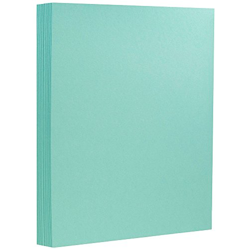 JAM PAPER Extra Heavyweight 130lb Cardstock - 8.5 x 11 Coverstock - Turquoise - 25 Sheets/Pack