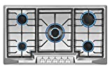 "gas cooktop 36 inch Empava 36"" Stainless Steel 5 Italy Sabaf Burners Stove Top Gas Cooktop EMPV-36GC881"