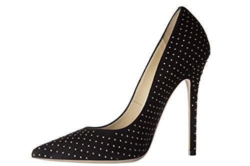 Jimmy Choo escarpins chaussures femme à talon en daim anouk noir