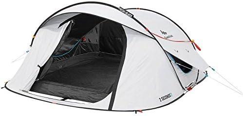 Quechua 2 Segundos Easy III Fresh & Negro 3 Hombre Resistente al Agua Pop Up Tienda de campaña Camping