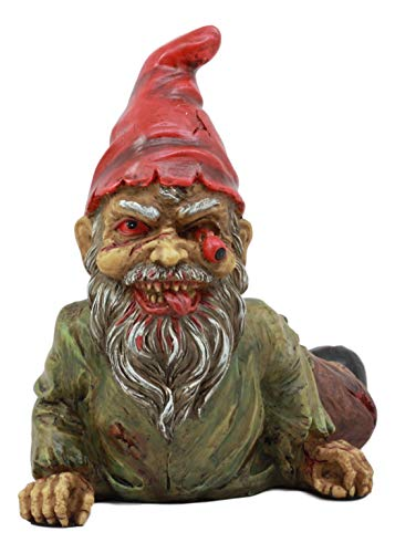 (Ebros Walking Dead Severed Body Zombie Gnome Crawling On The Floor Statue 7