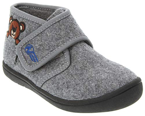 Naturino Express Kids Orso Boys Single Strap Shoe High Top Fashion Sneaker Boot Chukka Grey 9 Toddler