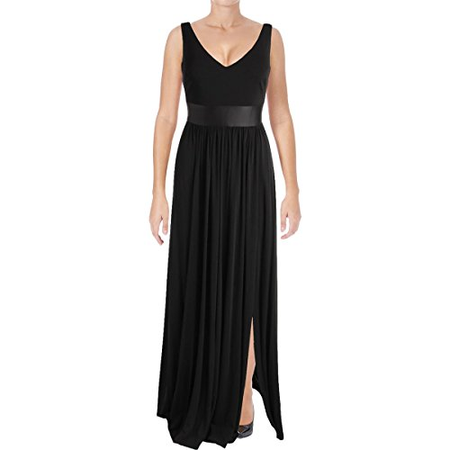 Vera Wang Women's Jersey Gown, Black 12