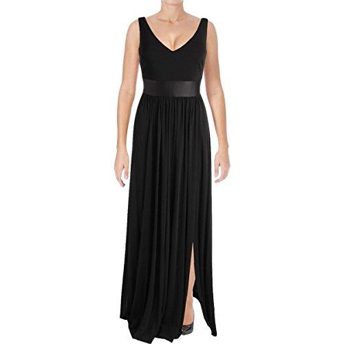 Vera Wang Women's Jersey Gown, Black, 2 -