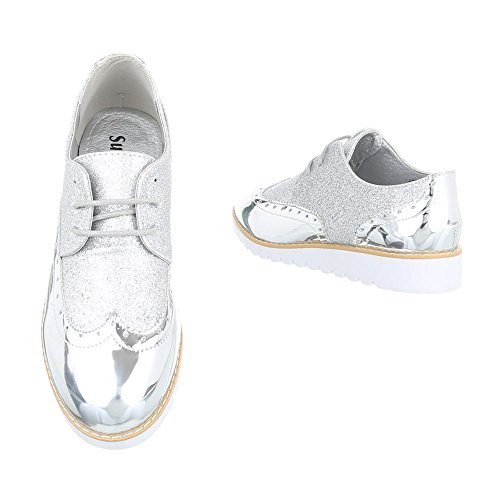 design Chaussures Lacets Ital Silber 62036 À Femme qOdw5cCw