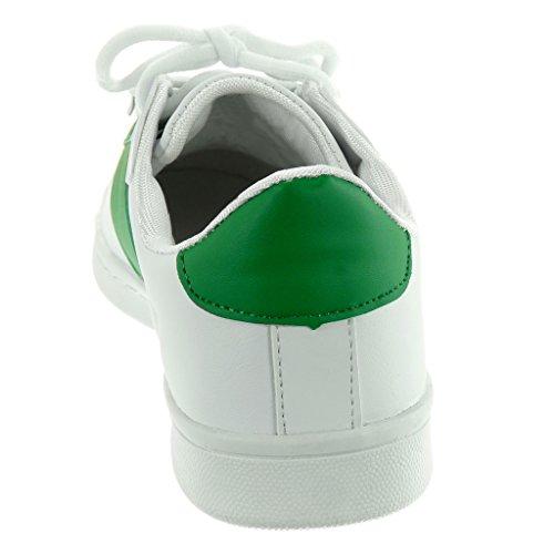 Moda Deportivos de 2 Zapatillas Tennis CM Verde Angkorly 5 Mujer Plano Talón Tacón qtEBR5W