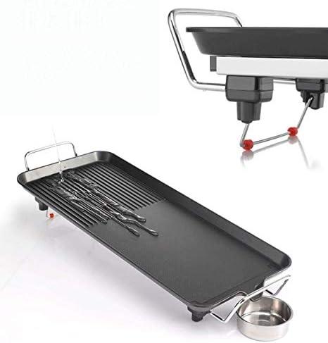GBG Grill Électrique Multifonctionnel, Style Coréen Hot Pot 2 En 1 Barbecue Poêle Ménage Antiadhésif Sans Fumée