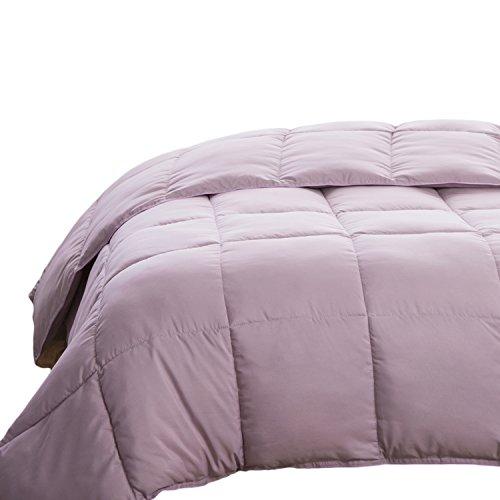 Review Bedsure Full/Queen Size Comforter Purple Lavender Box Stitching Duvet Insert Down Alternative...
