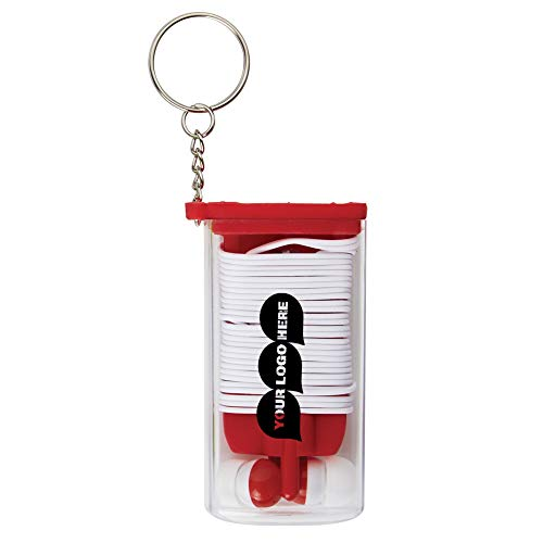 Earbuds And Cord Organizer Key Chain - 100 Quantity - $1.69 Each - PROMOTIONAL PRODUCT/BULK/BRANDED with YOUR LOGO/CUSTOMIZED]()