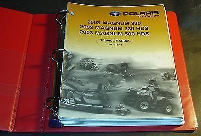2003 POLARIS ATV 4 WHEELER MAGNUM 330 & 500 SERVICE MANUAL P/N 9918063 (590)