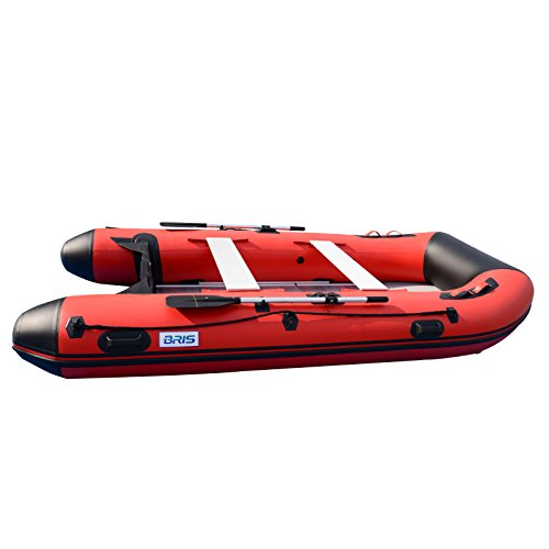 BRIS 12ft Inflatable Boat Inflatable Raft Sport Rescue Diving Boat Fishing Dinghy Tender Pontoon