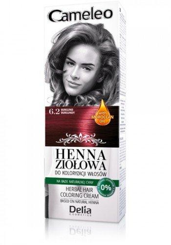 Cameleo Herbal Henna para colorear, diseño floral, color crema y ...