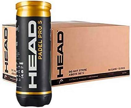 Head Pro S Caja 24 Pelotas Padel, Juventud Unisex, Amarillo, M